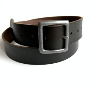 American Eagle chocolate brown leather belt sz 38